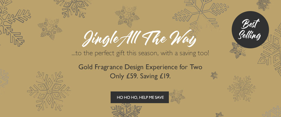 Gold Fragrance Design Experience just £59. Saving £19