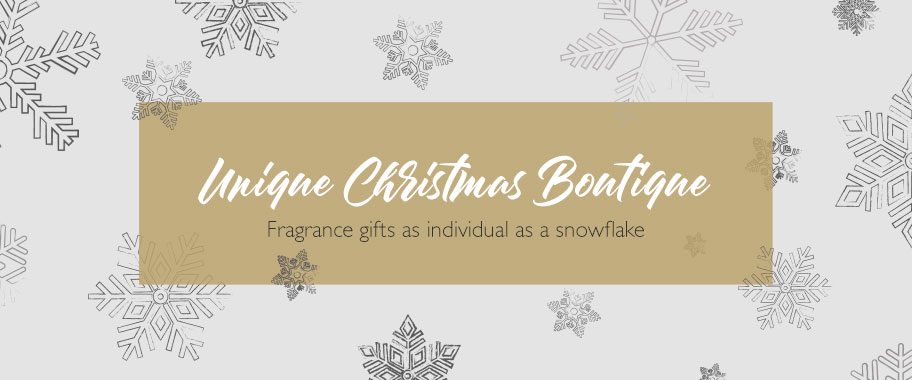 Unique Christmas Boutique; fragrance gifts as individual as a snowflake.