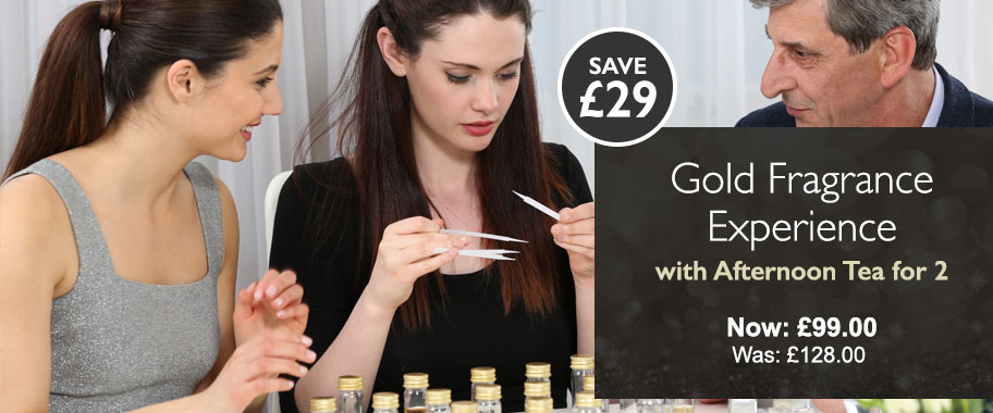 Gold Fragrance Experience with Afternoon Tea for 2 - Now: £99.00 Was: £128.00