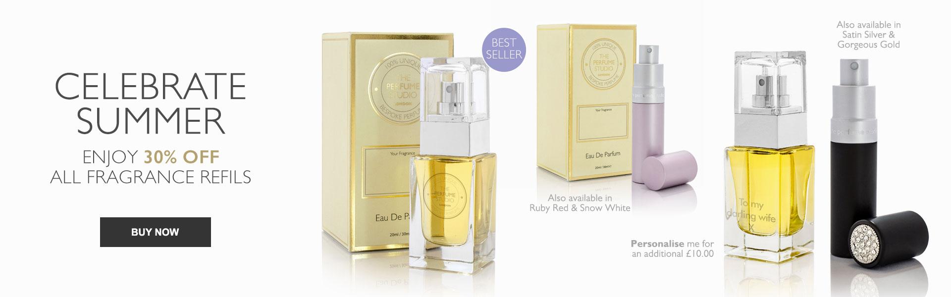 Celebrate Summer - Enjoy 30% OFF all Fragrance Refills