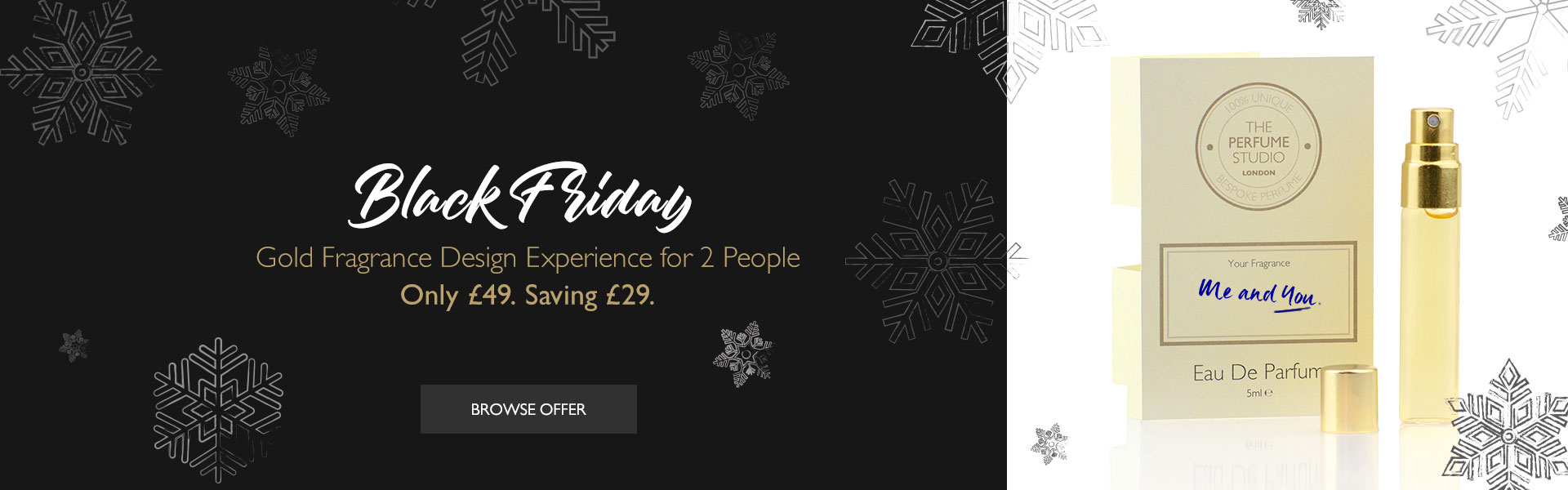 Black Friday - Fragrance Design Experience for Two People. Just £49. Save £29.