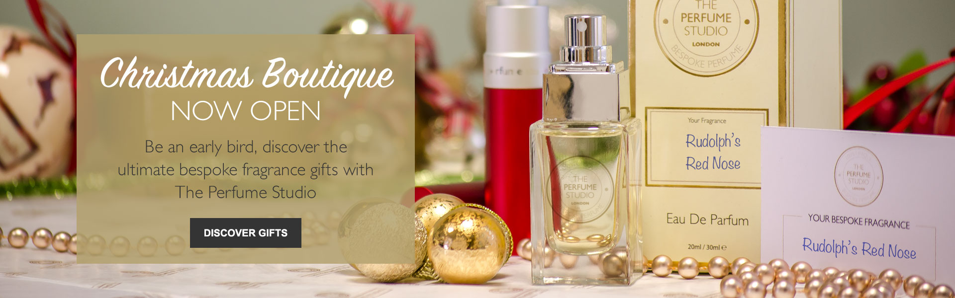 Christmas Boutique Now Open - Be an early bird, discover the ultimate bespoke fragrance gifts with The Perfume Studio