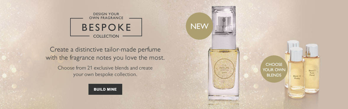 Design your fragrance - Bespoke Collection. Create a distinctive tailor-made perfumewith the fragrance notes you love the most. Choose from 21 exclusive blends and create your own bespoke collection.