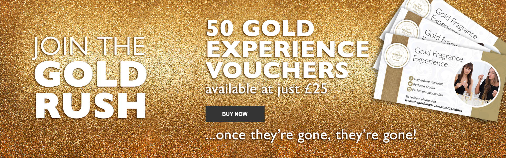 Join the Gold Rush. 50 Gold Experience Vouchers available at just £25
