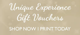 Unique experience gift vouchers - shop now